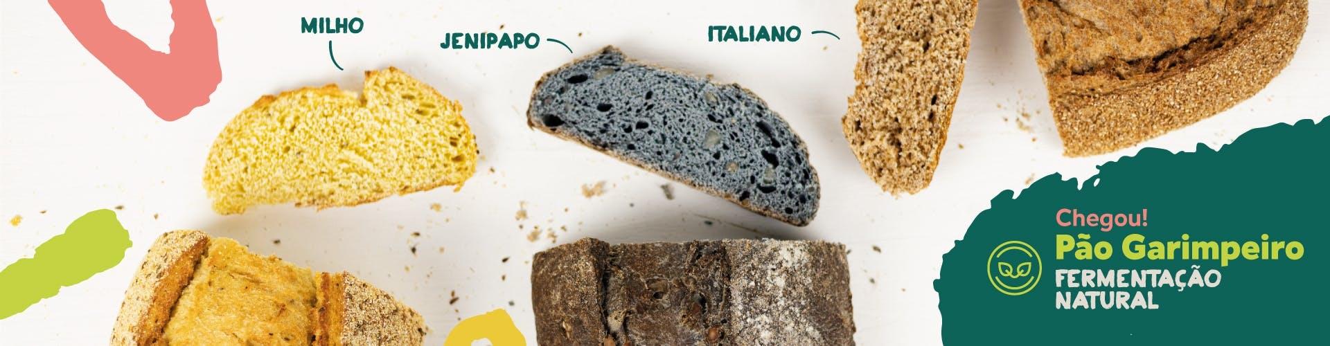 pão artesanal garimpeiro