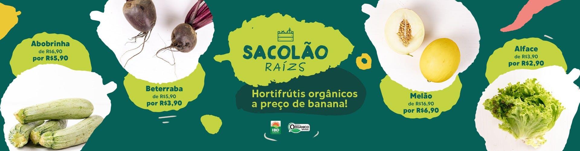 sacolão raízs. orgânicos em promoção 25_10